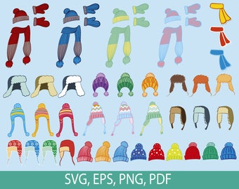 Mittens SVGPNGEPS Clipart and cut files winter, snow, snowday