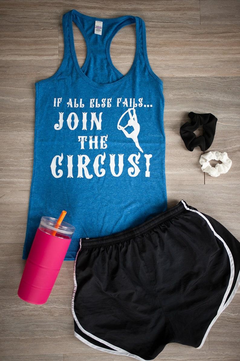 Join the Circus Aerial Hoop Tank Lyra Aerialist Cirque