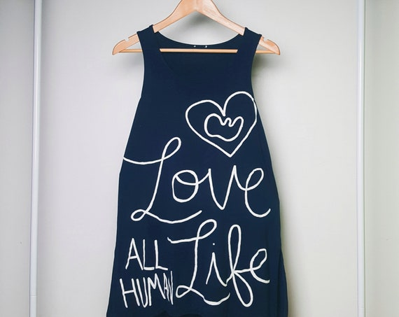 Navy Blue Love All Human Life Dress (S)