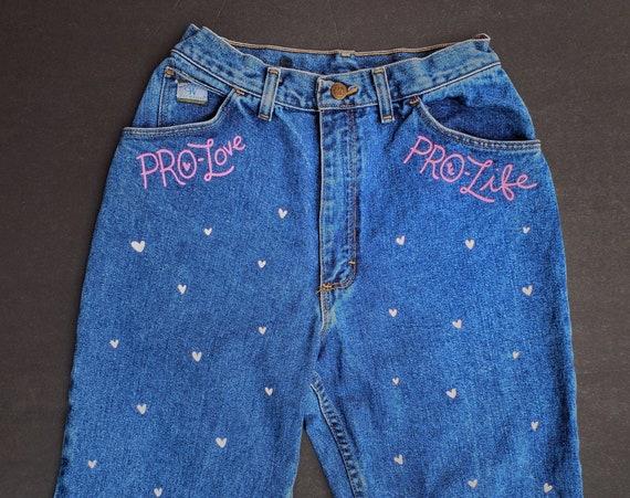 Pro-Love Pro-Life Jeans (XS)