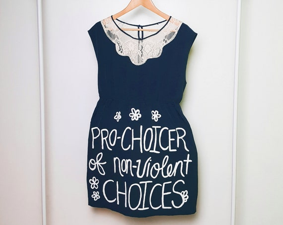 Navy Pro-Choice for Life Dress (L)