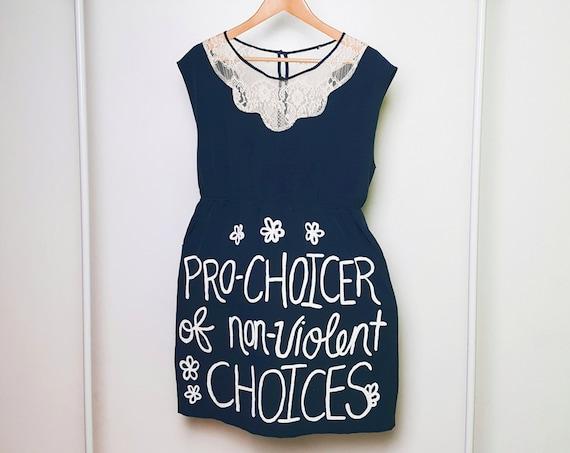 Navy Pro-Choice for Life Dress (L)