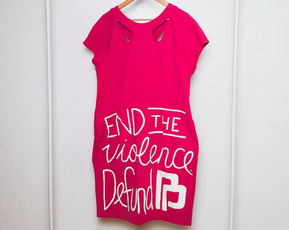 Hot Pink End Planned Parenthood Dress (2X)
