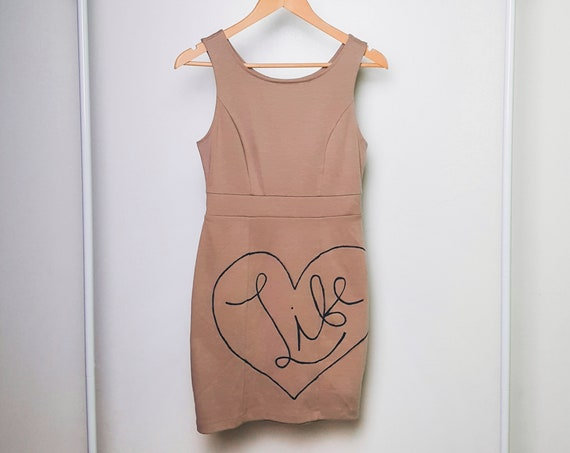 Beige Love Life Dress (XS)