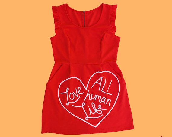 Tangerine Love All Human Life Dress (XL)