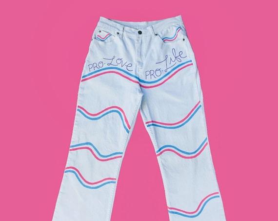 Pro-Love Pro-Life White Jeans (12)