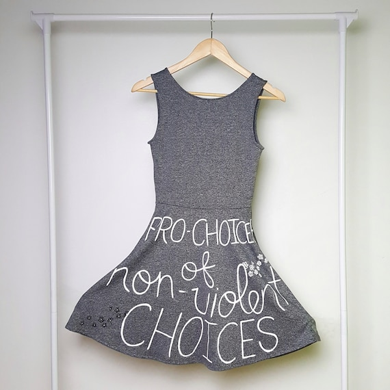 Grey Pro-Choice for Life Dress (S)