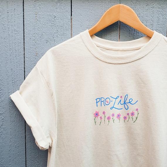 Pro-Life Floral T-Shirt (L)