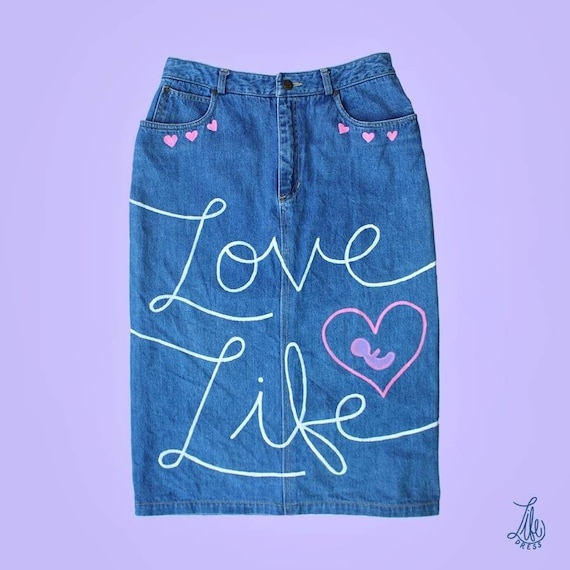 Love Life Denim Skirt (M-L)