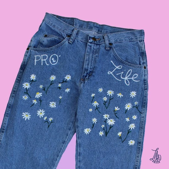 Pro-Life Daisy Light Blue Jeans (S)