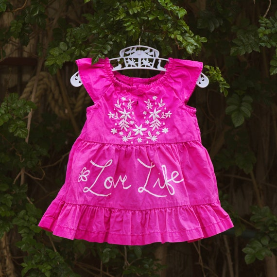 Bright Pink Love Life Dress (3 m/o)