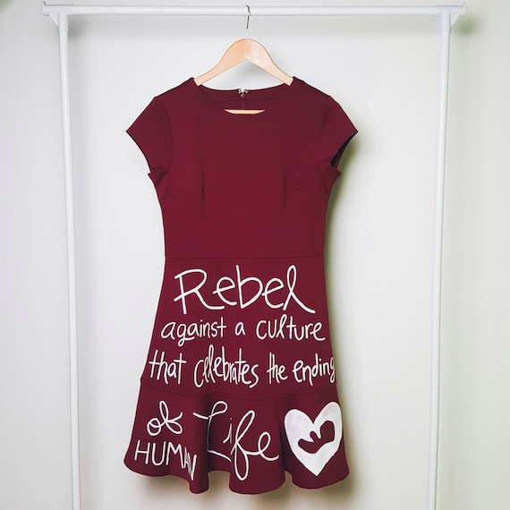 Dark Red Rebel for Life Dress (M)