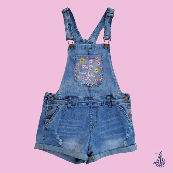Wildflower Pro-Life Overalls (S)