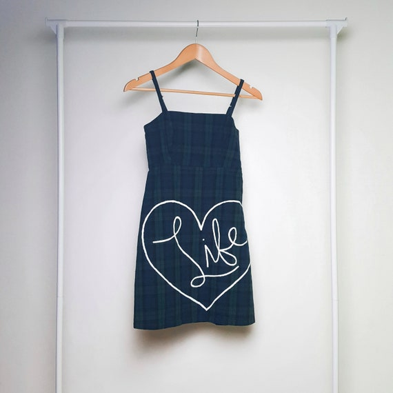 Green & Blue Plaid Love Life Dress (XS)