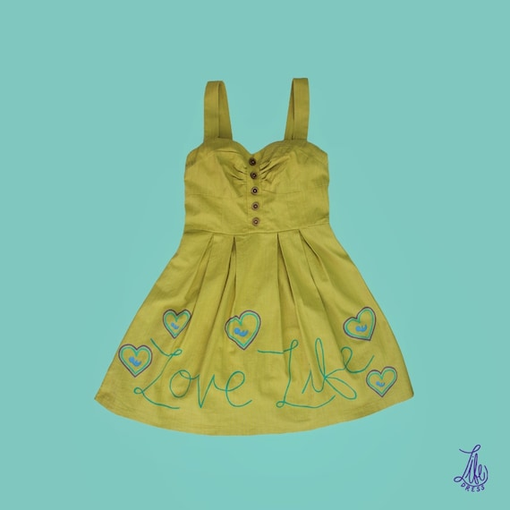 Chartreuse Love Life Dress (S)