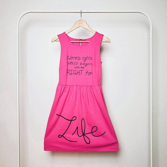 Pink Women's Rights Life Dress (S)