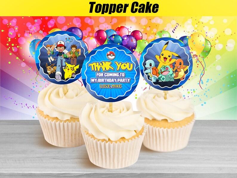 Awe Inspiring Pokemon Cupcake Toppers Pokemon Birthday Cupcake Toppers Etsy Funny Birthday Cards Online Eattedamsfinfo