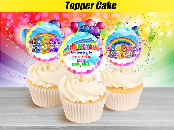 Fabulous Care Bears Cupcake Toppers Care Bears Birthday Cupcake Etsy Birthday Cards Printable Benkemecafe Filternl