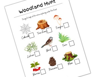 Woodland Hunt | Printable for Kids | Early Years, Childminders | Outdoor Scavenger Hunt | Autumn / Fall Nature I Spy Game