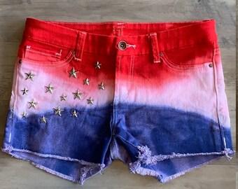 b6a8b53357 American flag shorts | Etsy