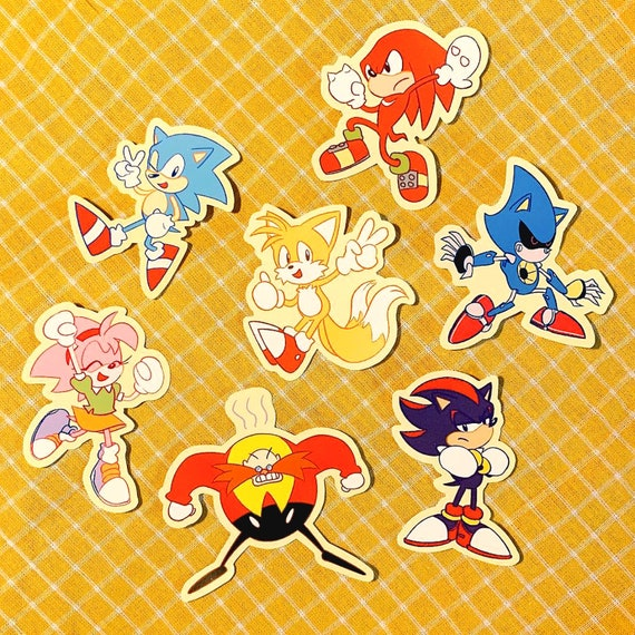 Sonic And Friends Sticker Pack Etsy
