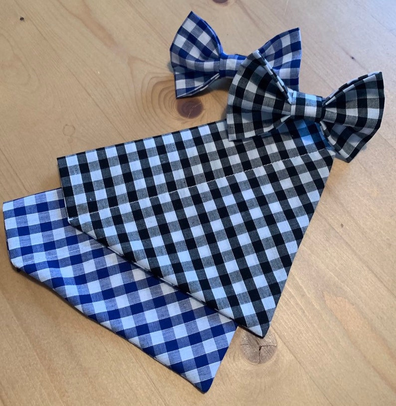 Gingham Bandana  Bow Tie