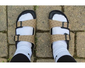 4e6b6cc5528b Repurposed Gucci Slide Sandals Authentic Custom Birkenstock Inspired
