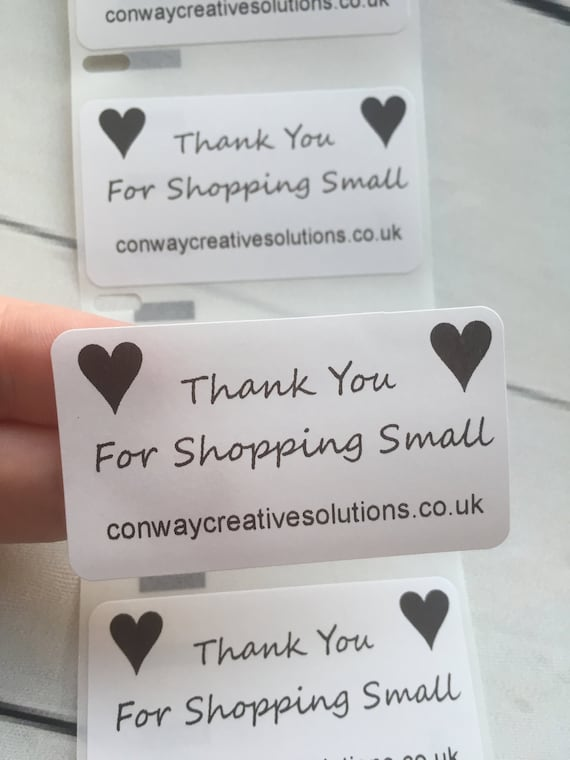 Personalised Thank You Wedding Stickers Labels 100 Custom White 57mm X 32mm