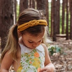Mustard Gold Headband - Baby Girl Headband - New Mom Headband  - Mustard Headwrap - Baby Girl Headwrap - Adult Womens Headwrap - Top Knot