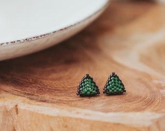 Colorful Stud Earrings, Beaded Stud Earrings, Seed Bead Earrings, Gifts for Teens, Birthday Gift for Teens,