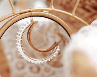 Bridesmaid Earrings, Wedding Earrings, Bridal Earrings, Boho Wedding Earrings, Fall Wedding Jewelry, Beaded Earrings, Bridal Jewelry,