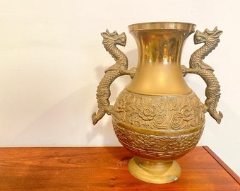 3 Pc Vintage Decorative Brass Vases or Candlestick HolderEclectic Boho or Farmhouse Decor Housewarming or Wedding Gift Idea