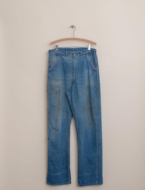 1940's Size 32x33 Laurel Leaf Denim Work Pant - image 2