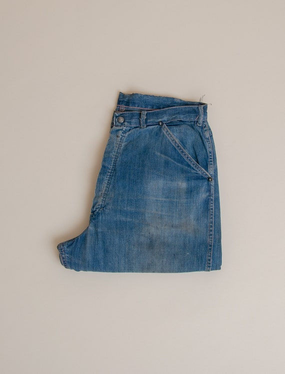 1940's Size 32x33 Laurel Leaf Denim Work Pant