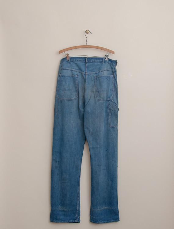 1940's Size 32x33 Laurel Leaf Denim Work Pant - image 3