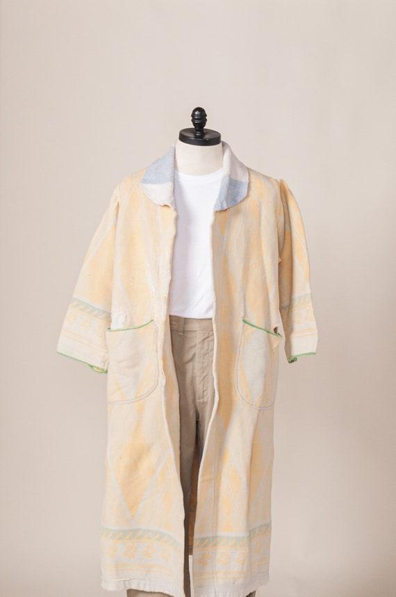 1930's Handmade Beacon Blanket Robe