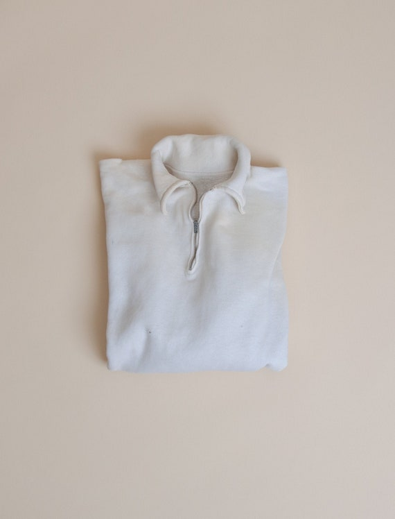 1950's Small Distressed Quarter Zip Sweatshirt