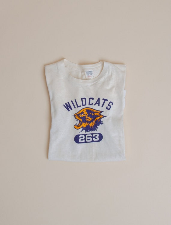 1960's Small Wildcats Phys. Ed. T-Shirt on Champio
