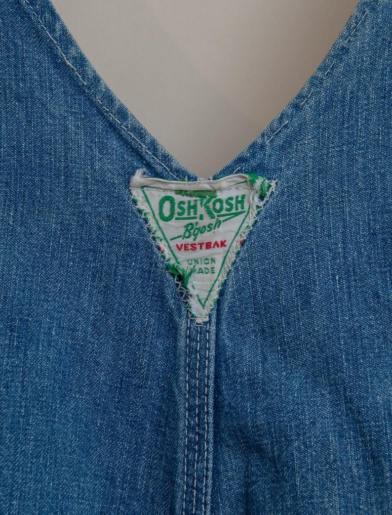 1950/'s Small Sanforized Denim Overalls by OshKosh