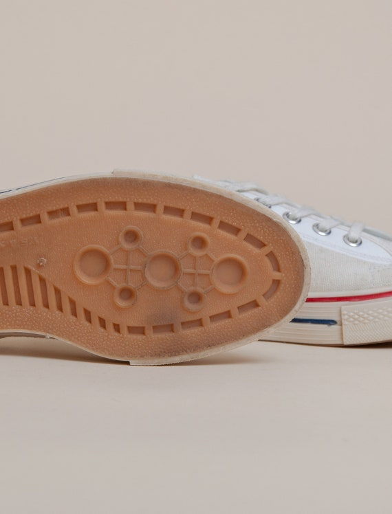1960's Size 3.5 Deadstock Low Top Canvas Tennis S… - image 3