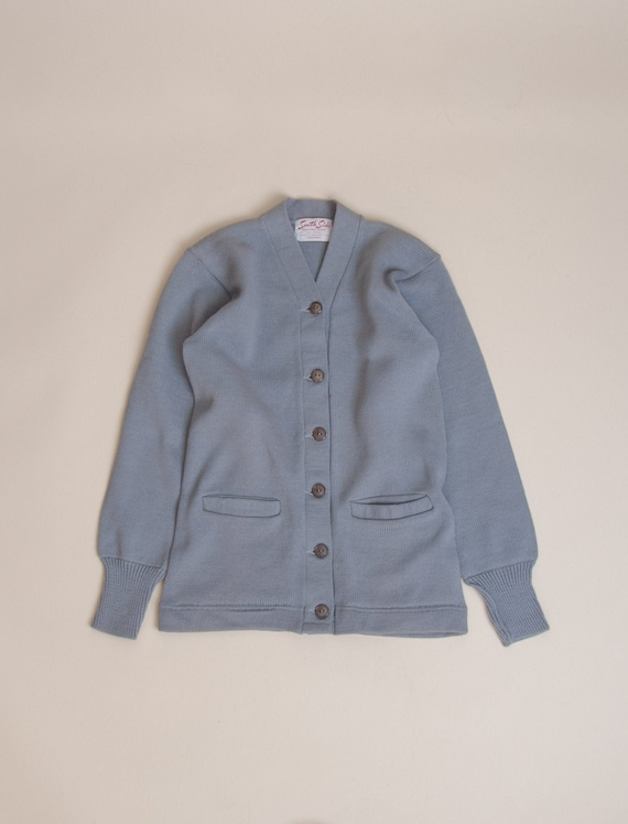 1950's Small Deadstock Wool Cardigan Sweater by So