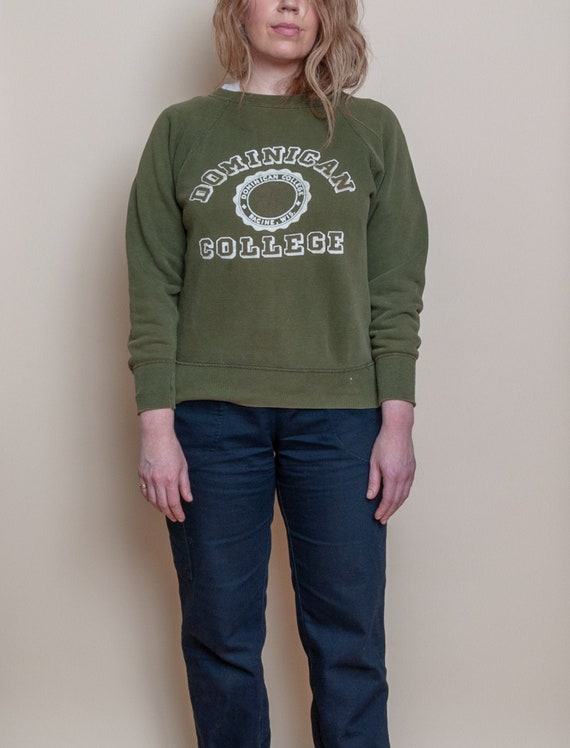 1950's Small Dominican College Raglan Sweatshirt b