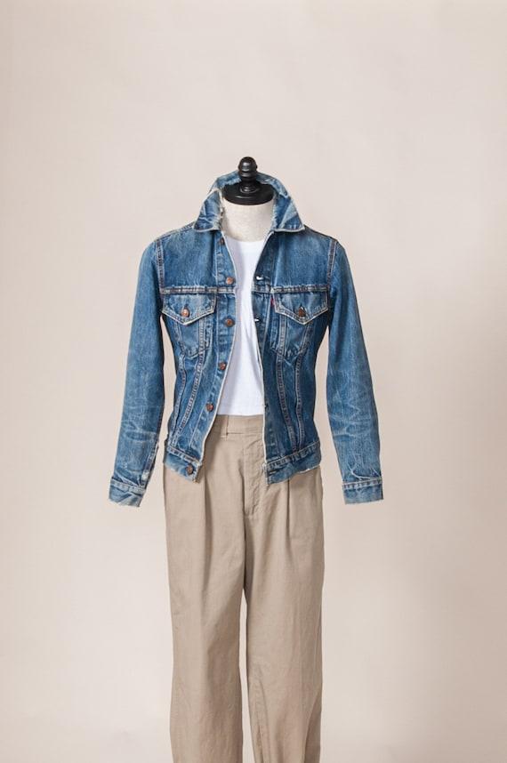 1960's Small Distressed Levi's Big E Denim Jacket