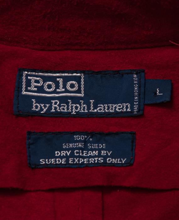 1980's M/L Polo Ralph Lauren Suede Shirt - image 3