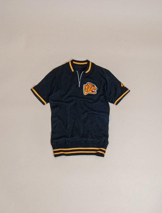 1950's X-Small Durene Short Sleeve 1/4 Zip Jersey