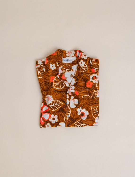 1960's Medium Loop Collar Aloha Shirt by Hukilau F