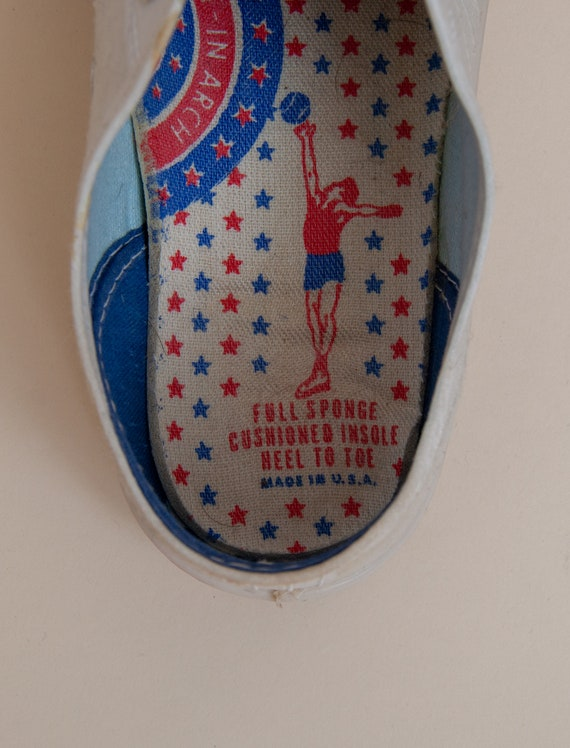 1960's Size 3.5 Deadstock Low Top Canvas Tennis S… - image 5