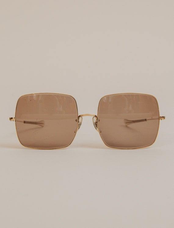 1980's Square Aviator Sunglasses by Bausch & Lomb