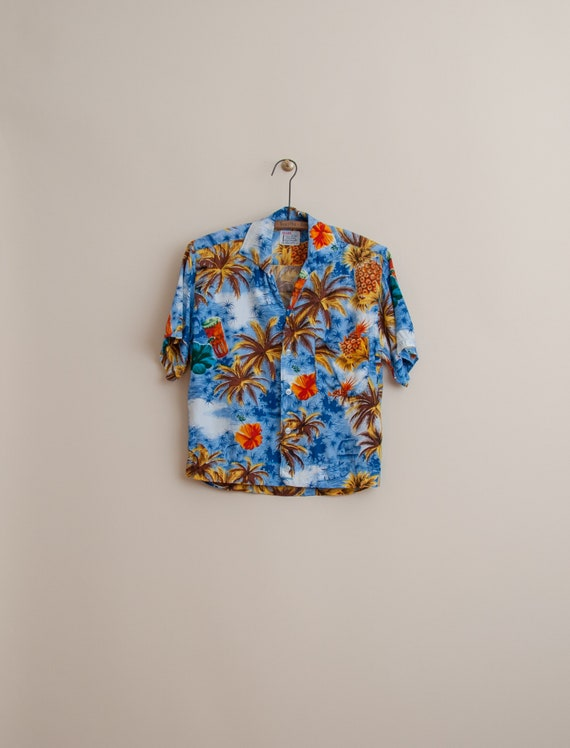 1950's Small Rayon Aloha Shirt by Sears, Roebucks,