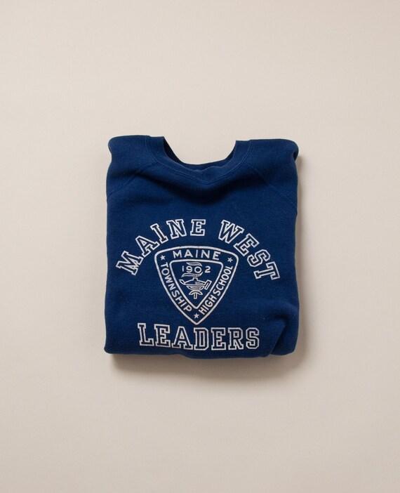 1960's Medium Flocked Maine West Sweatshirt